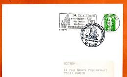 59 SECLIN   FOIRE  PARC DE LA RAMIE    1992 Lettre Entière N° XY 769 - Cachets Commémoratifs