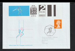 Great Britain Cover Franked W/SmartStamp 2012 Olympic Games In London - Athletics Posted Oxford 2010 (G128-5) - Summer 2012: London