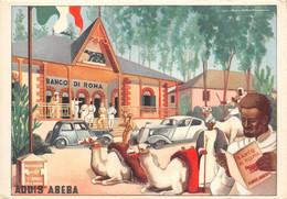 """¤¤   -  ETHIOPIE   -   ADDIS-ABEBA   -  Carte Publicitaire """" Banco Di Roma """"   -  Illustrateur  -  ¤¤ - Ethiopia"""