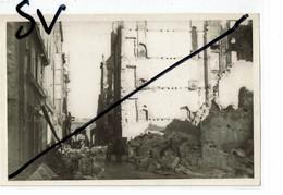 Saint Malo 1944  Rue St Vincent  Photo Originale  Papier Kodak (format 9.8x15) - Saint Malo