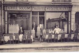 CP - Hotel Restaurant - Les Choupettes - Fontainebleau  - Reproduction - Hotels & Restaurants