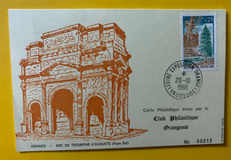 13575 - Foire Exposition Orange Vaucluse 20.10.1968 Jumelage Rastatt-Orange - Lettres & Documents