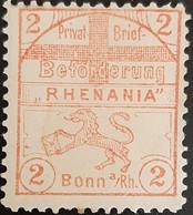 Germany Stadtpost/Privatpost Bonn 1896 Michel B1 Unused - Sello Particular