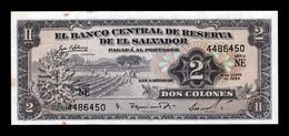 El Salvador 2 Colones 1964 Pick 101a SC- AUNC - El Salvador