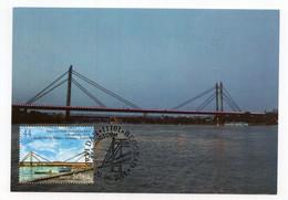 2011 SERBIA,BELGRADE,MAXIMUM CARD,FD CANCELLATION,SCIENCE,BRIDGES,RAILWAY BRIDGE OVER RIVER SAVA,BELGRADE - Serbia