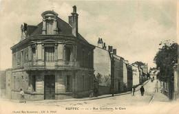 Ruffec * La Rue Gambetta Et Vue Sur La Gare - Ruffec