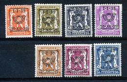 BELGIE - OBP Nr PRE 420/427 (zonder/sans Nr 424) - Typo - Klein Staatswapen - Préo/Precancels - MH* - Cote 18,75 € - Typografisch 1936-51 (Klein Staatswapen)