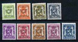 BELGIE - OBP Nr PRE 428/436 - Typo - Klein Staatswapen - Préo/Precancels - MH* - Cote 50,00 € - Typo Precancels 1936-51 (Small Seal Of The State)