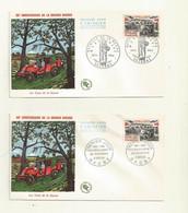 FDC VICTOIRE DE LA MARNE  LES 2 ENVELOPPES   CACHET PJ ET CACHET GF  ( GAGNY Et SEZANNE) DU 05/09/1964. - 1960-1969