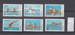 39K63 / 1983 - Michel  Nr. 3972/77 - Water Sports Kayak Water Polo Canoes Diving Rowing Swimming ** MNH Romania - Unused Stamps