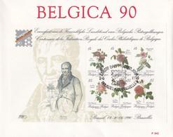 Enveloppe FDC 2370 à 2375 Bloc 67 Fleurs Roses - 1981-90