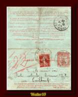 1920 France Carte Pneumatique C40+20 De Paris Envoye Poste Restante Caillouet ? Entier - Storia Postale