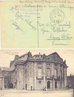 GUERRE 14-18 OCCUPATION Allemagne RÉGIE DES CHEMINS DE FER DES TERRITOIRES OCCUPÉS Gare De DÜREN - Guerra Del 1914-18