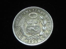 PEROU - 1/2 Dinero 1917 - En Argent    ****  EN ACHAT IMMEDIAT **** - Peru
