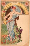 LESSIEUX - Femme Art Nouveau - Flora (6819 ASO) - Lessieux