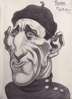 Photo / Cpa -sport Cyclisme -tour De France 1930 - Caricature De Raoul Cabrol Du Cycliste Victor Fontan - - Cycling