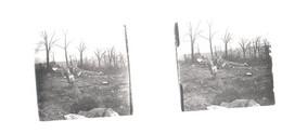 Plaque De Verre. Photo . Négatif. Guerre 14/18.  Après Un Bombardement - Glass Slides