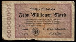GERMANY BERLIN BANKNOTE 10 Millionen Mark 1923 UNIFACE F (NT#05) - Other