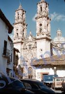 2 SLIDES 1949 TAXCO CITY MEXICO AMERICA 35mm PHOTO FOTO M27 - Diapositives (slides)