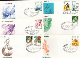 BELGIUM  1982 SPORTS FDC - 1981-90