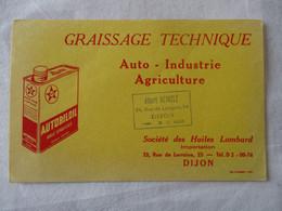 BUVARD GRAISSAGE TECHNIQUE AUTOBILOIL - Automotive
