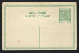 ALBANIE Ca. 1910: CP Entier De 5Q Neuve - Albanië