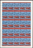 ST.VINCENT GRENADINES-BEQUIA 1984 IMPERF.Cars Automobiles Citroen DS 19 $1 Ser.II COMPLETE SHEET:50 Stamps France-relate - St.Vincent E Grenadine