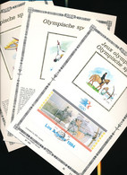 BELGIUM  1984 OLYMPIC GAMES SILK SOUVENIRS - 1981-90