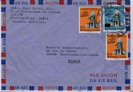 HAÏTI  Lettre De Port De Paix Pour Bourbonnes Les Bains  En 1982 Yvert 776 X 2 + PA554 Surchargé 2 Gourdes - Haiti