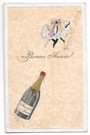 Bonne Année Mercier And Co Epernay Bouteille De Champagne 1907 H Wagener Geraerts - Neujahr
