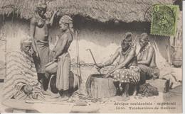 2114 FORTIER  Haute Guinée Teinturiéres De Kankan  Coll Géné Fortier Dakar N°1010 Dos Bl  Fermée 25-04 - French Guinea