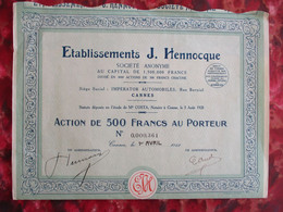 Société AUTOMOBILE Hennocque -CANNES- 1928 - Cars