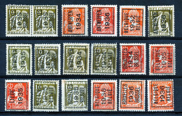 BELGIE - PRECANCELS - Typo - Selectie  Nr 515 - Zonder Gom/sans Gomme - Unclassified