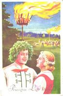 Latvia:Midsummer Holiday, National Costumes, Fire, Pre 1928 - Otros