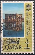 Qatar 1965, Fine Used, Nubia Monuments, H/v Re.1/- - Qatar