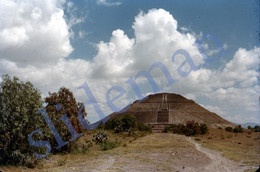 2 SLIDES 1949 PIRAMIDE PYRAMID MEXICO AMERICA 35mm PHOTO FOTO N2 - Diapositives (slides)