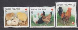 Finland 1996 - Red Cross: Pets - Domestic Chicken, Mi-Nr. 1334/36, MNH** - Nuevos