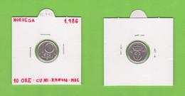 NORUEGA  10 ORE 1.986  CU-NI  KM#416  VF/MBC    DL-12.742 - Norway