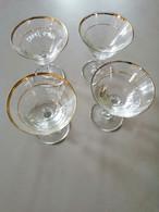 Rare Lot De 4 Verres Anciens à Pied Apéritif Kato Sport - Glasses
