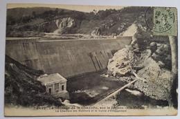 Carte Postale Le Barrage De La Chazotte Sur Le Lignon 1921 - Andere Gemeenten