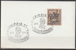 DDR 1957  MiNr.600 Tag Der Briefmarke Sonderstempel Leipzig Gutenberg Leistungsschau(d 3273 )günstige Versandkosten - Covers & Documents
