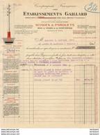ETABLISSEMENTS GAILLARD POTEAUX ET MATS à BÉZIERS  ( HERAULT ) .......... FACTURE  DE 1925 - Other
