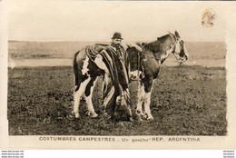 ARGENTINE  COSTUMBRES CAMPESTRES  Un Gaucho     ...... - Argentina