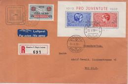 "SUISSE : BF . N° 3 . ET COMPLEMENT . REC . "" GENEVE "" . 1938 . - Briefe U. Dokumente"