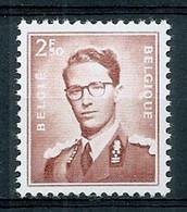 BELGIE Boudewijn Bril * Nr 1028 * Postfris Xx * WIT PAPIER - 1953-1972 Occhiali