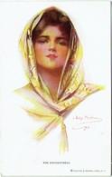 Illustrateur :  BOILEAU, Philip, 1911. The Enchanteress. Femme Et Foulard. - Boileau, Philip