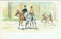 Illustrateur :  BERNIER, G. Chevaux. Cavaliers. - Otros Ilustradores