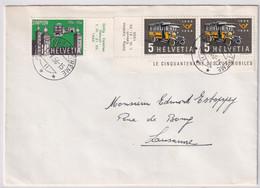 324-325 / Michel 623-624 Auf Brief Gelaufen Von La Tour De Trême Nach Lausanne - Cartas