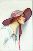 Illustrateur : Sophie PADNEY. Femme Et Chapeau. - Otros Ilustradores
