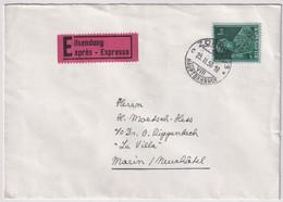 248 / Michel 382 Oberst Pfyffer Einzelfrankatur Auf EXPRESS-Brief Gelaufen Von Zürich Nach Marin NE - Cartas